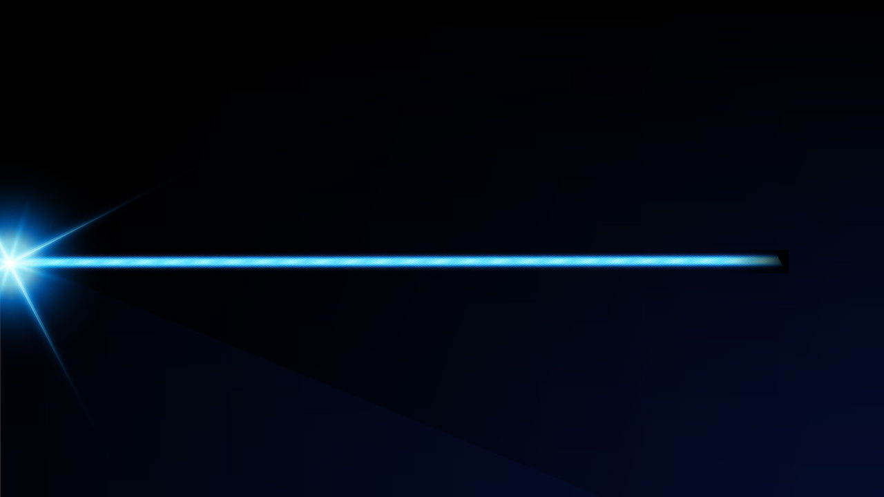 Blue laser in black background